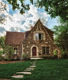 tudor style homes | This Tudor house in Geneva, Illinois, went from  downtrodden to
