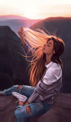 Cute Girl Drawing, Cartoon Girl Drawing, Girl Cartoon, Life Drawing, Wallpaper Flower, Cute Girl Wallpaper, Anime Illustration, Digital Illustration, Watercolor Illustration