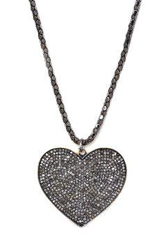 Pave Diamond Heart Pendant Necklace - 1.70 ctw by Lori Kassin on @HauteLook