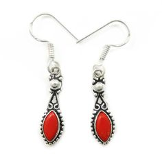 This is a beautiful silver tone oxidized metal dangle earring set. It is very fashionable jewelry. Tribal Earrings, Tribal Jewelry, Dangle Earrings, Pendant Necklace, Tribal Fashion, Womens Fashion, Coral Stone, Red Coral, Jewelry Trends