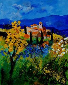 """Saatchi Online Artist: Pol Ledent; Oil, 2011, Painting """"Provence 459001"""""""