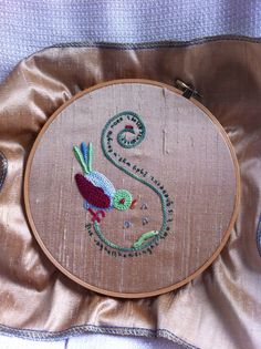 Workshop Elisabethan Embroidery. Design by Jessica Grimm.