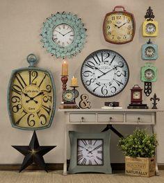 Relógios Vintages. Relógio de parede.  Compre relógios aqui: http://www.flocodecor.com.br