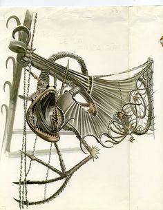 Dibuix del Drac de la Finca Güell