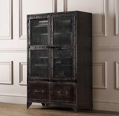 Vintage Industrial Steel Cabinet | Bookcases & Storage | Restoration Hardware Baby & Child