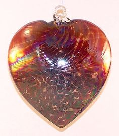Glass Heart Ornament Garnet Red by Iron Art Glass Designs >>> Click affiliate link Amazon.com on image to review more details.