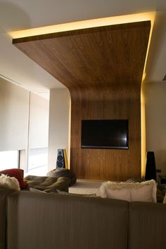 Tv Wall and ceiling detail.