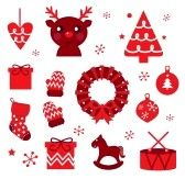 Christmas Icon Blocks Isolated On White ( Red & Brown ) Royalty Free Cliparts, Vectors, And Stock Illustration. Image 11661379.