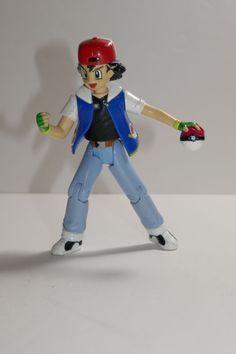 "Hasbro Nintendo 2000 Pokemon ""Ash Ketchum"" Action Figure  #Hasbro"
