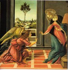 ボッティチェッリ 『受胎告知』 ウフィツィ美術館