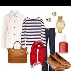 Nautical look and tb shoes what could be better