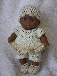 This pattern consists of a top, shorts, a hat and shoes. It uses fine crochet cotton size 10    The pattern is in a PDF format and will be emailed