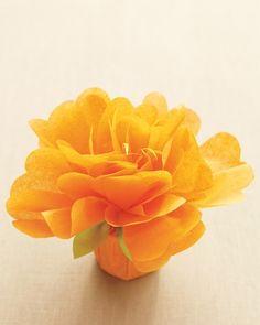 filled tissue paper flower