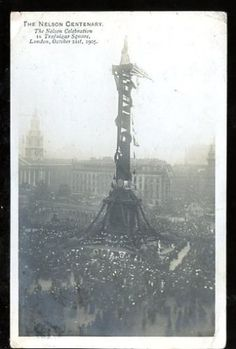 LONDON-Trafalgar-Square-1905-Nelson-Celebration