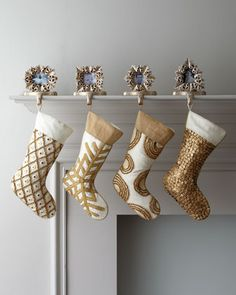 """champagne frost"" christmas stockings"