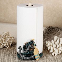Coastal Paper Towel Holder Amazing Coral & Starfish Paper Towel Holder  Coastal Decorating  Pinterest Decorating Inspiration