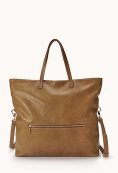 City-Chic Faux Leather Tote | FOREVER21 - 1000065707 - $24.80