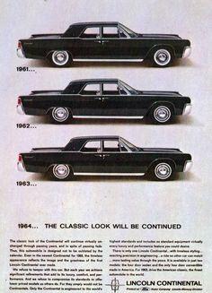 1961, 1962 & 1963 Lincoln Continental Sedan by coconv, via Flickr