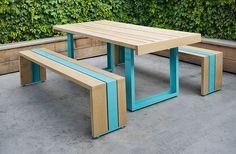 SCOUT REGALIA – SR WHITE OAK TABLE SET - Back porch needs a table like this.