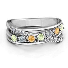 Crossover Accent Multi Band Ring #jewlr