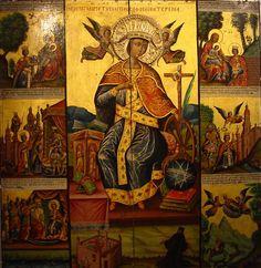 Icon of Saint Catherine of Alexandria - Saint Catherine's Monastery - Saint Catherine's Monastery, Monastery Icons, Byzantine Icons, Byzantine Art, Religious Icons, Religious Art, St Catherine Of Alexandria, Saint Katherine, Orthodox Catholic