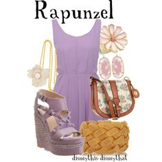 Rapunzel, created by disneythis-disneythat on Polyvore