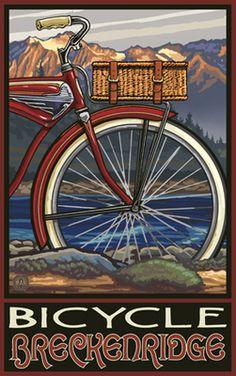 PAL-5217 FTB Bicycle Breckenridge Fat Tire Bike - travel posters for favorite honeymoon memories?