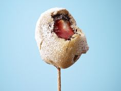 Chocolate-Strawberry Waffle Ball on a Stick #FNMag