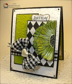 beautiful card, love the pop of the chartreuse against the black and white