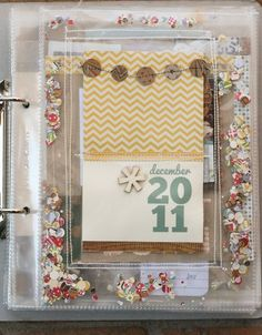 This makes me want to learn how to use a sewing machine on my pages, adorable!