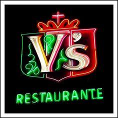 V's Italian Restaurant neon sign. by john4kc, via Flickr Kansas City Learn more at Facebook: https://www.facebook.com/KansasCityMissouriLife/