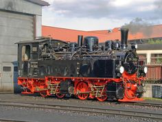 Mallett 99 5901 in the shed yard at Wernigerode on the Harzquerbahn. Train Car, Train Tracks, Lego Trains, Thomas And Friends, Train Layouts, Steam Engine, Steam Locomotive, Paddle, The Past