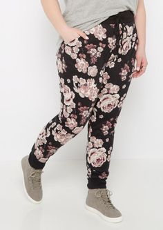 image of Plus Pink Rose Soft Knit Jogger