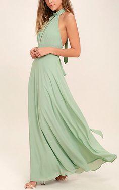 First Comes Love Sage Green Maxi Dress via @bestmaxidress