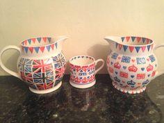 Emma Bridgewater Union Jack 1.5 Pint Jug and Diamond Jubilee Studio Specials 1.5 Pint Jug and 0.5 Pint Mug