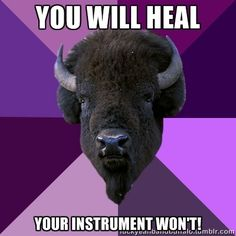 Psh!!! I hit my marimba on things all the time! And in return it eats me.