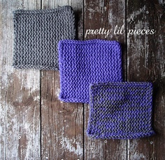 Gray and Purple washcloths set of 3 by prettylilpieces on Etsy, $7.00