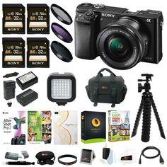 Sony Alpha a6000 24.3MP Mirrorless Digital Camera w/ 16-50mm Lens and  Bundle | Cameras & Photo, Digital Cameras | eBay!