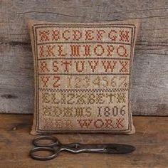 Elizabeth Adams Marking Sampler...Primitive Cross Stitch ...