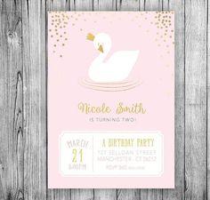 Hey, I found this really awesome Etsy listing at https://www.etsy.com/listing/501634689/swan-invitation-swan-princess-birthday