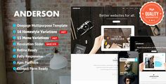Anderson - Onepage Multipurpose Template . We Launch Miko on Wordpress Version, take a