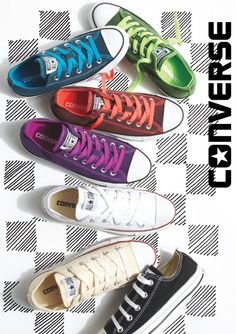 Converse Ox. If I could, I would buy the purple and the orange/coral ones! <3
