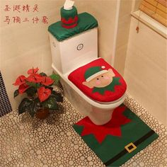 Brilliant So Beautiful Christmas Gift Decorations Bathroom Toilet Seat Carpet 20 Most Awesome