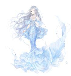 nikki_right_mermaid_nobubble. Pretty Anime Girl, Beautiful Anime Girl, Anime Love, Anime Disney Princess, Anime Girl Drawings, Anime Art Girl, Cool Drawings, Anime Mermaid, Mermaid Art