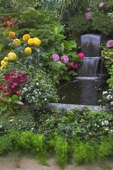 If I Had Property Big Enough I D Have All Of These Waterfall Gardens Gardening Pinterest Gardens Garden Waterfall And Backyards