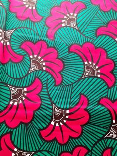 Wax fabric (by 50 centimetres) - fuschia pink wedding flowers on green background - cotton - African fabric - loincloth Drawing Techniques Pencil, Colored Pencil Techniques, African Textiles, African Fabric, Illustration Sketches, Illustrations, Celebrity Drawings, Horse Drawings, Wildlife Art