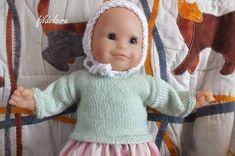 tuto pull pour poupée bébé Corolle 30 cm Plus