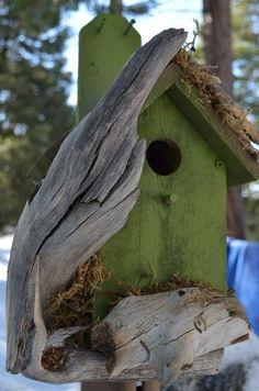 Unique Bird Houses | Unique Birdhouse in Eden Green Free by BirdhousesByMichele, $75.00