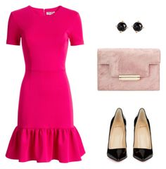 """Outubro Rosa"" by gessilene-mee on Polyvore featuring moda, Opening Ceremony, Christian Louboutin e Irene Neuwirth"