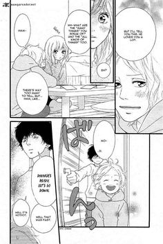 Ao haru ride manga (don't remember which chapter tho. Anime Couples Manga, Cute Anime Couples, Manga Anime, Futaba Y Kou, Tanaka Kou, Best Shoujo Manga, The Familiar Of Zero, Heroic Age, Blue Springs Ride